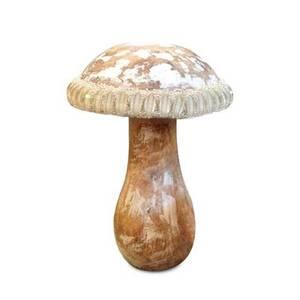 Bilde av Sopp, perle, natur tre10x10x25cm