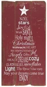 Bilde av Treskilt jule tekst