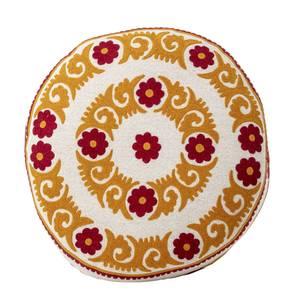 Bilde av Puff orange med mønster Ø:65 cm